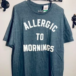 JEM ALLERGIC TO MORNINGS graphic MENS t-shirt